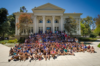 The Class of 2018 on their first day on campus, fall 2014