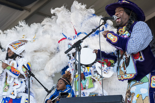Big Chief Juan & Jockimo's Groove Jazz Fest day 1 on April 27, 2018. Photo by Ryan Hodgson-Rigsbee RHRphoto.com