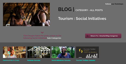 Blog Category concerning the Social Initiative occurring through Tourism Activity Generally.