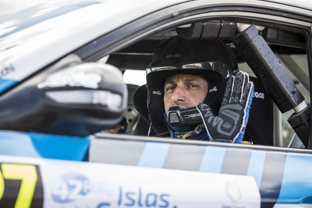 MELEGARI Zelindo, CECCHI Andrea Marco, SUBARU IMPREZA WRX STI, portrait during the 2018 European Rally Championship ERC Rally Islas Canarias, El Corte Inglés,  from May 3 to 5, at Las Palmas, Spain - Photo Gregory Lenormand / DPPI