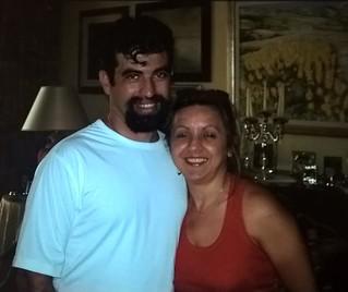 Saverio Sidella insieme alla moglie