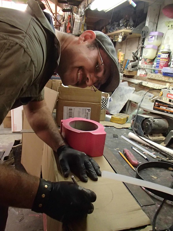 Ian Prepping Mold Boxes