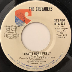 THE CRUSADERS:THAT'S HOW I FEEL(LABEL SIDE-A)