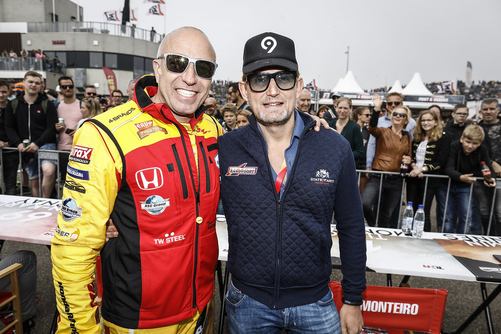 CORONEL Tom, (nld), Honda Civic TCR team Boutsen Ginion Racing, portrait VAN ORANJE Bernhard (ned), Audi RS3 LMS, Bas Koeten Racing, portrait during the 2018 FIA WTCR World Touring Car cup of Zandvoort, Netherlands from May 19 to 21 - Photo Francois Flamand / DPPI