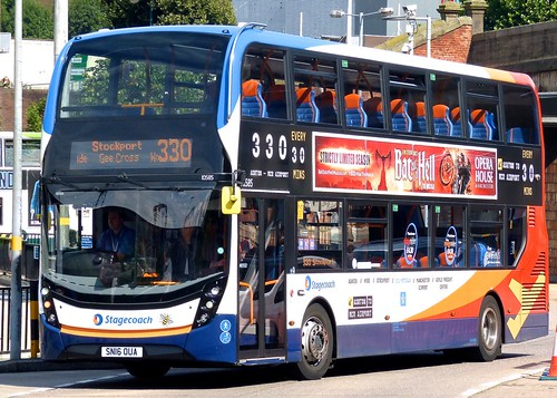SN16 OUA 'Stagecoach Manchester' No. 10585 '330'. 'ADL' E40D / 'ADL' Enviro 400MMC on 'Dennis Basford's railsroadsrunways.blogspot.co.uk'