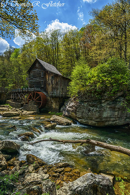 Glade Creek Grist Mill Spring