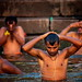 Men Bathing & Praying In The Ganges, Varanasi