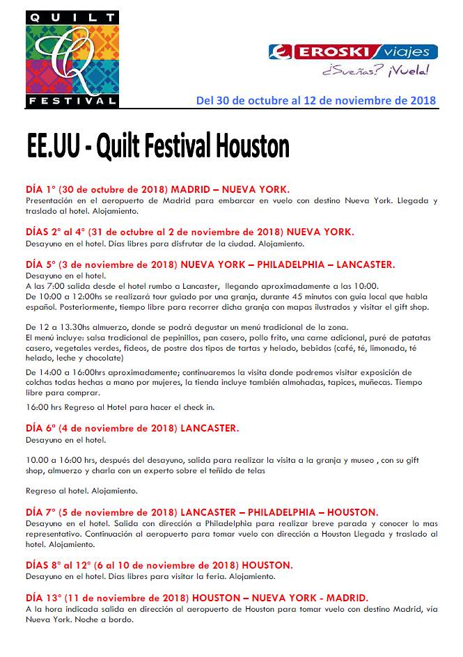 Itinerario Houston 2018