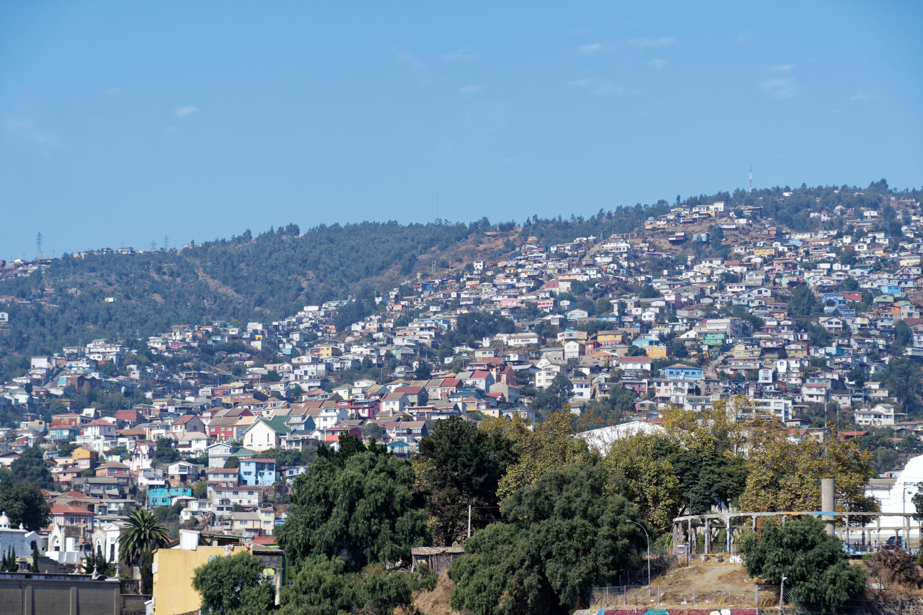 The hillside neighbourhoods of Valparaiso