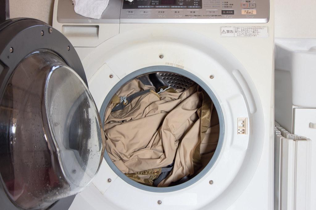 テックウォッシュで洗濯