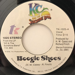 KC AND THE SUNSHINE BAND:BOOGIE SHOES(LABEL SIDE-A)