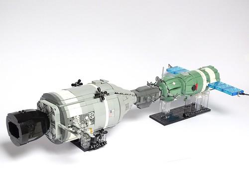 Apollo-Soyuz Test Project LEGO Model 1:32 scale