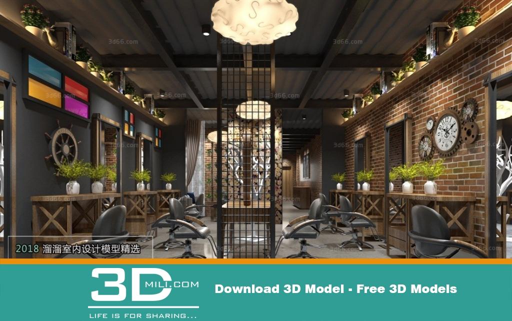 42 Exhibition Shop 3dsmax File Free Download 3d Mili