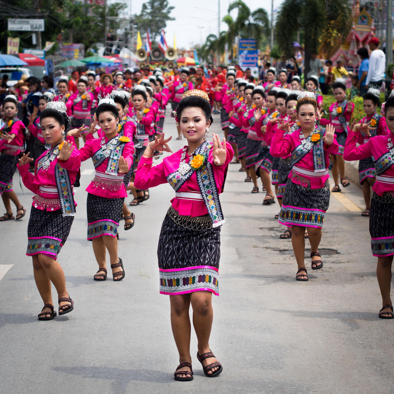 Dancers in Yasothon Hae Bangfai Ko parade. Photo taken on May 11, 2013.