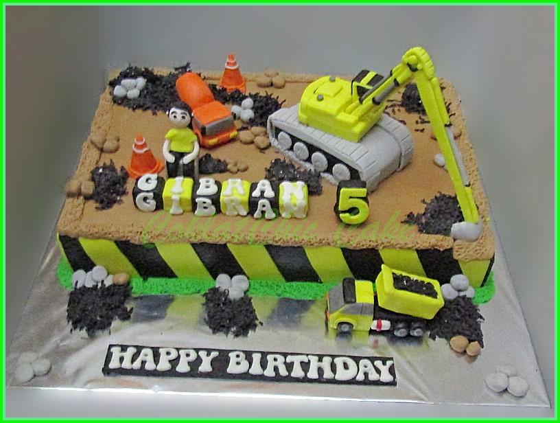 cake Construction site GIBRAN 24x36 cm