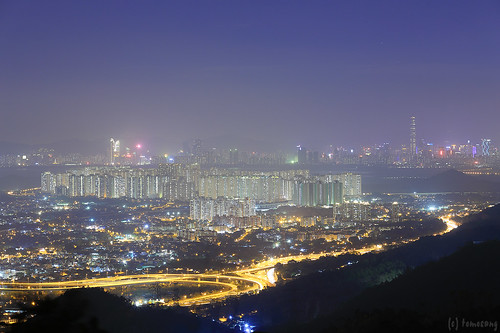 Kwun Yam Shan at Night