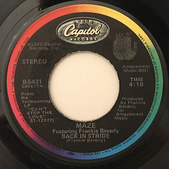 MAZE FEATURING FRANKIE BEVERLY:BACK IN STRIDE(LABEL SIDE-A)