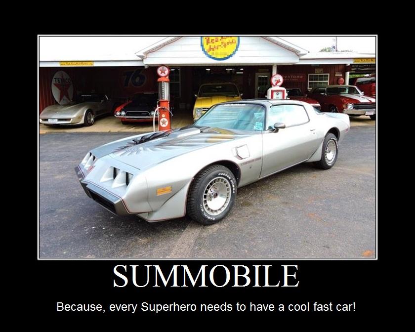 Summer Glau Pontiac Firebird Trans AM Summobile