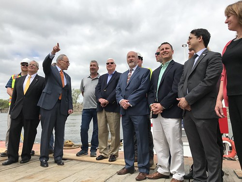 Troy Seawall Project Kick-Off with Senator Schumer