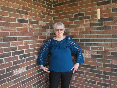 Trina finished her Avery by Norah Gaughan! Knit in Butterfly Super 10