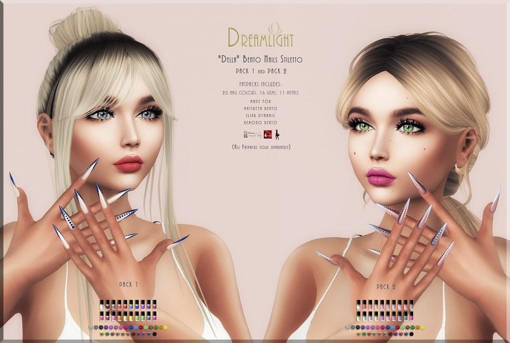 "[Dreamlight] ""Della"" Bento Nails - TeleportHub.com Live!"