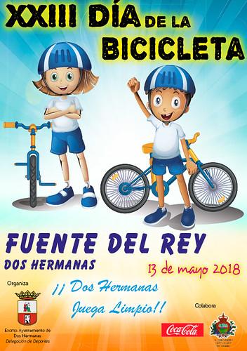 Cartel Día de la Bicicleta en Fuente del Rey