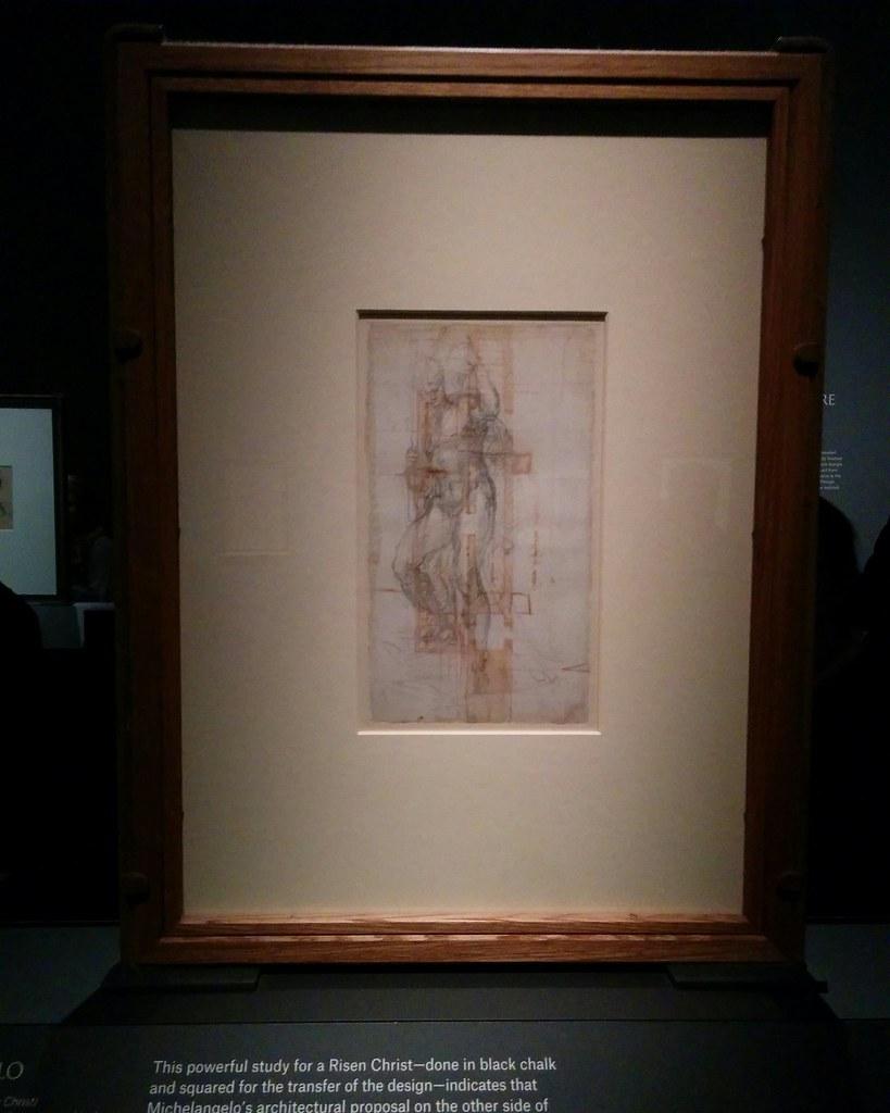 Study of a Male Nude (Risen Christ) #newyorkcity #newyork #metmuseum #metmichaelangelo #michaelangelo #drawing #latergram