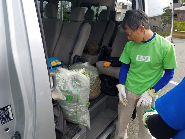 福島県浪江町で災害ボランティア(援人 2018年 0511便)