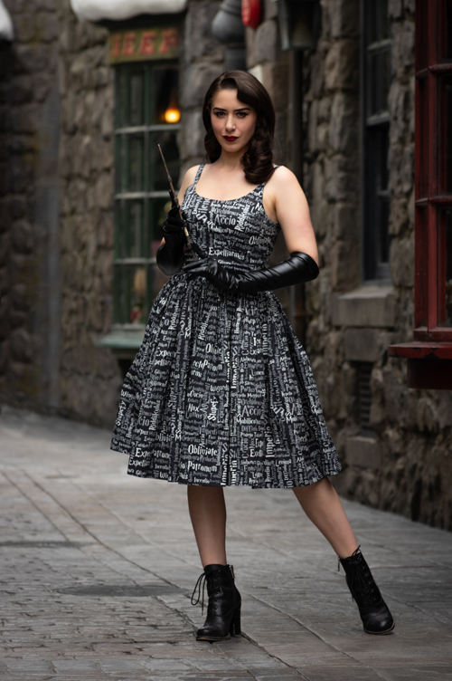Sarsparilly Harry Potter Inspired Black Magic Dress