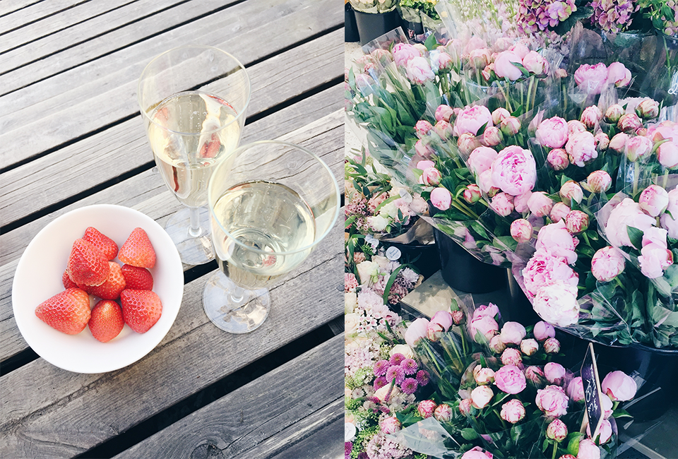 strawberries-sparkling-wine-flowers