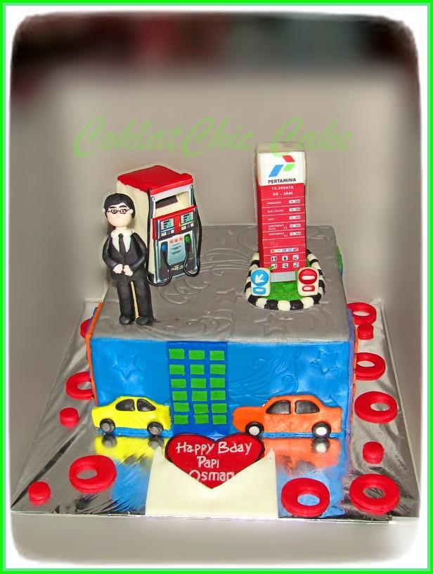 cake pertamina gas station PAPI OSMAN 15 cm