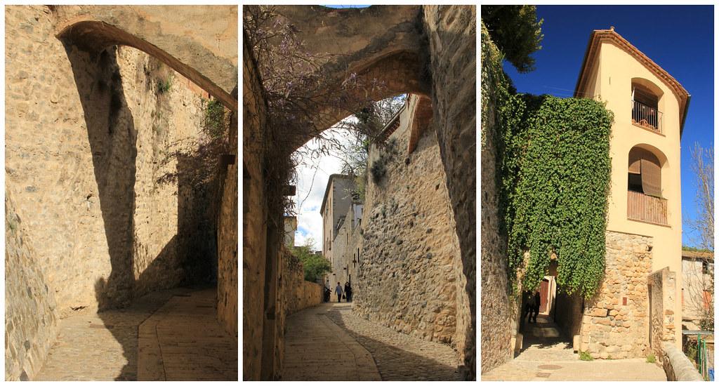 Besalú's old city walls