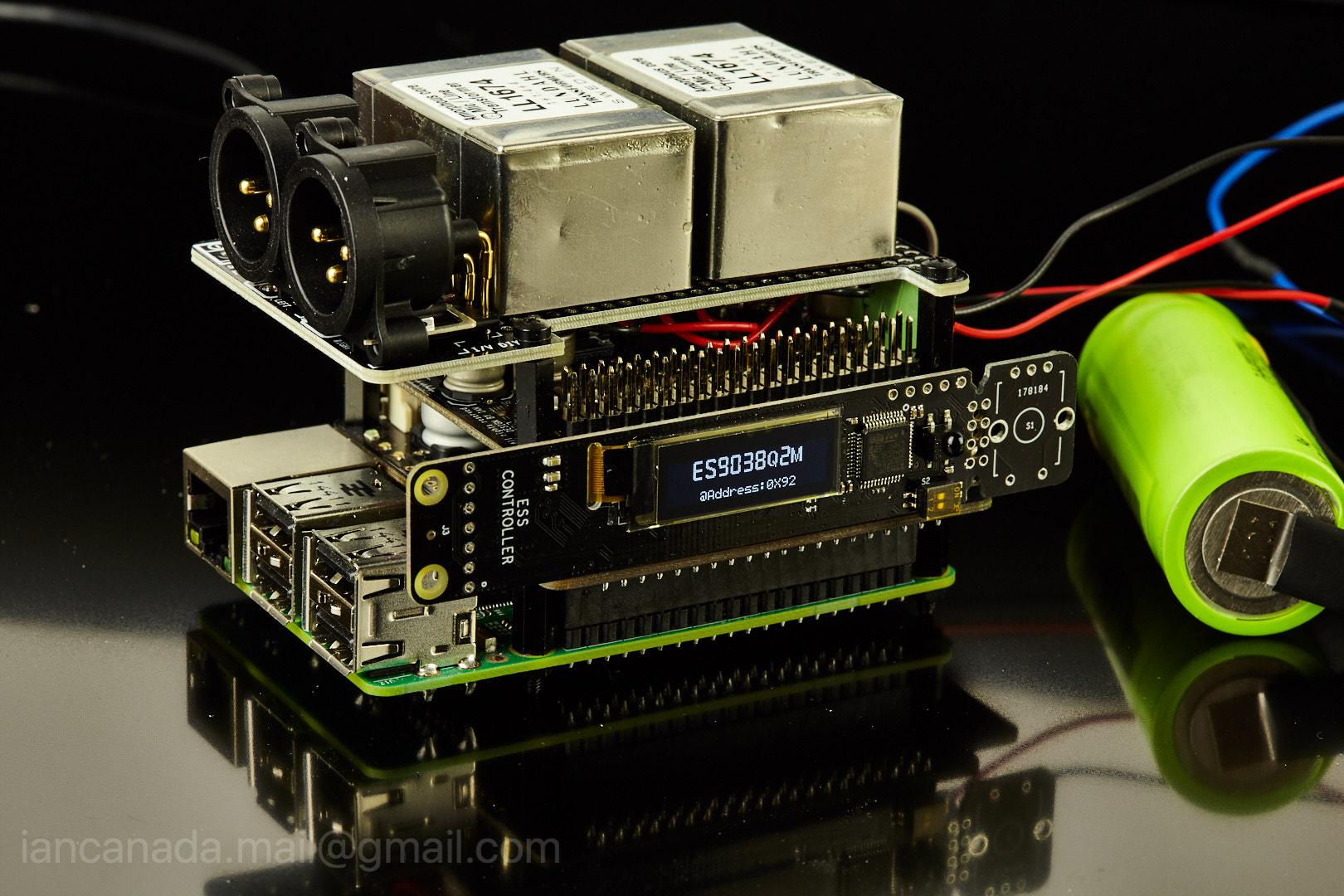 ES9018K2M, ES9028Q2M, 9038Q2M DSD/I2S DAC HATs for Raspberry Pi