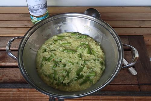 Risotto mit grünem Spargel und Ziegenkäse (für 2 Personen)