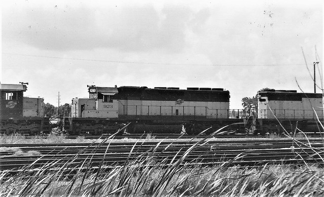 Chicago & North Western --  former CGW --  SD40 locomotive at Council Bluffs in 1976