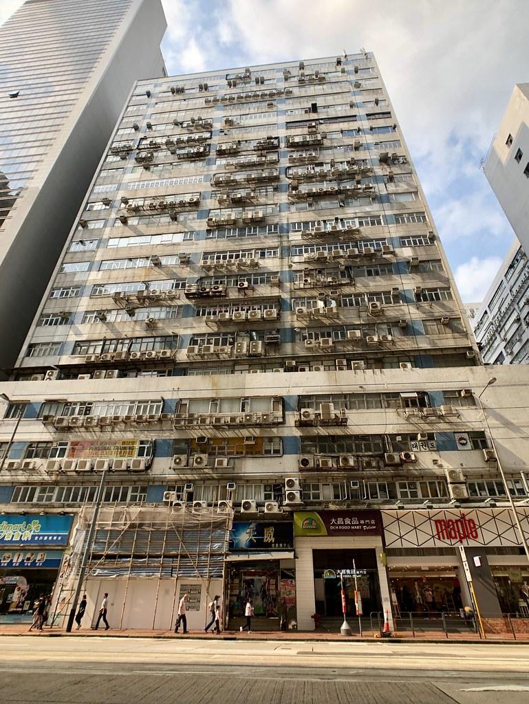 香港の室外機マンション