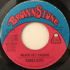 BOBBY BYRD:NEVER GET ENOUGH(LABEL SIDE-A)