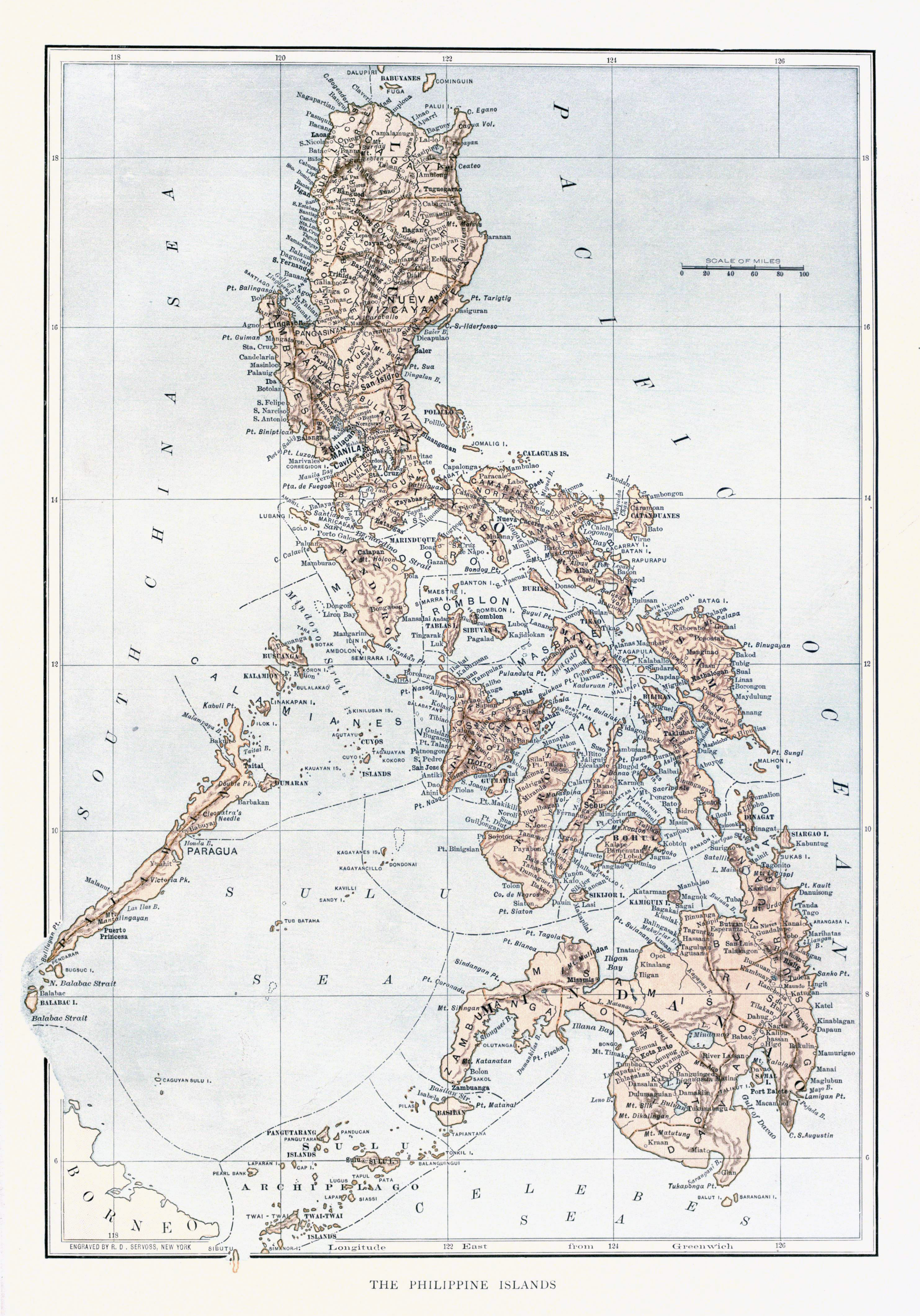 Map of the Philippines, unknown date.