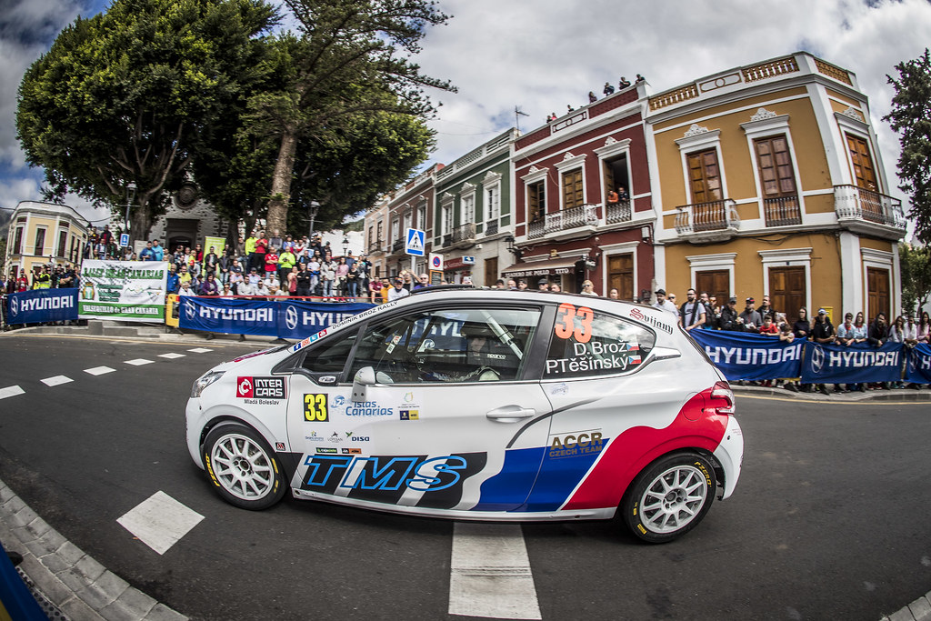 33 BROZ Dominik, TESINKY Pietr, PEUGEOT 208 R2, action during the 2018 European Rally Championship ERC Rally Islas Canarias, El Corte Inglés,  from May 3 to 5, at Las Palmas, Spain - Photo Gregory Lenormand / DPPI
