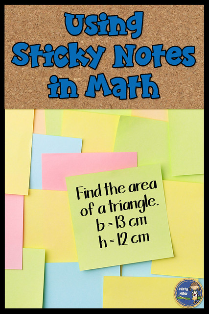 sticky notes in math class, exit tickets, math review