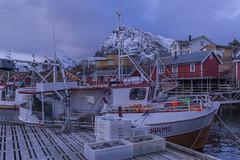 Sørvågen un bonito pueblo de pescadores Islas Lofoten Noruega