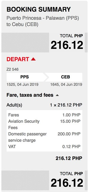 Puerto Princesa to Cebu AirAsia Red Hot Sale