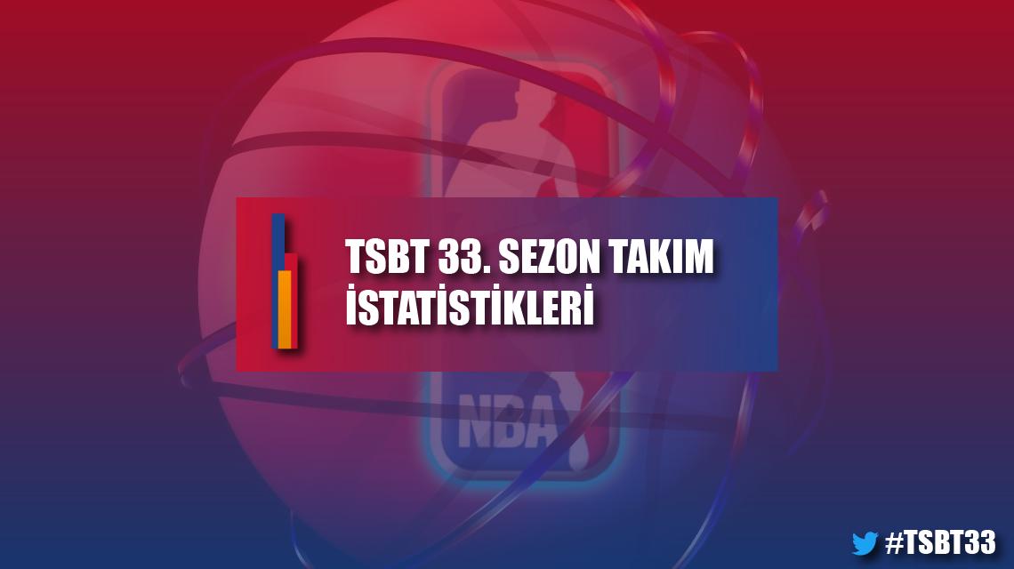 TSBT 33. sezon takım istatistikleri
