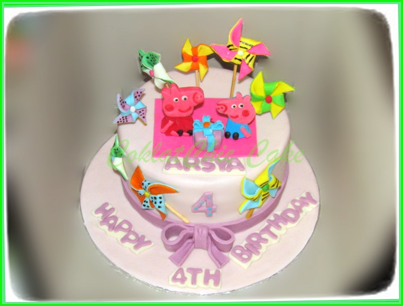 cake peppa the pig ARSYA 18 cm