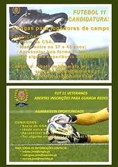 Cartaz Candidaturas Futebol
