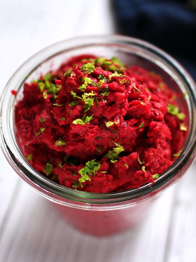 甜菜根鷹嘴豆泥 (純素) beet-hummus (6)