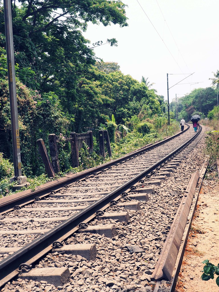 Railway tracks Alleppey _effected