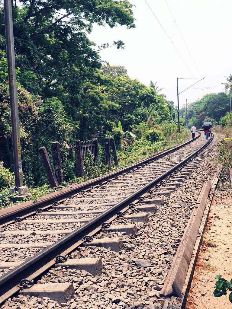 Railway tracks Alleppey _effected