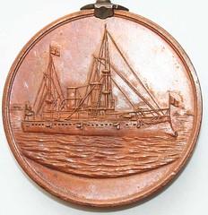 Dewey at Manila relic medal reverse