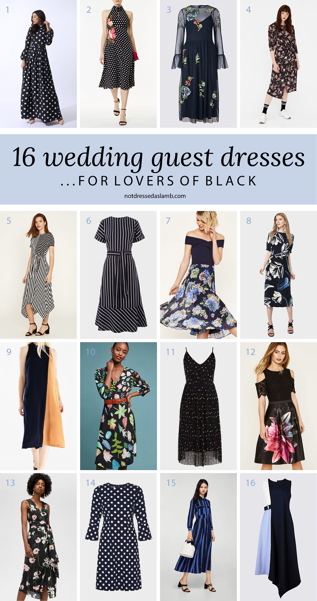What to Wear to a Summer Wedding for All Shapes & Sizes: 16 Wedding Guest Dresses for Lovers of Black - Not Dressed As Lamb